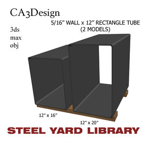 5 wall tube steel 3ds