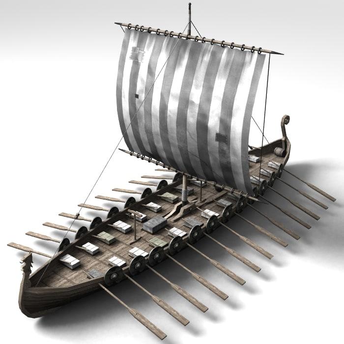 3d boat viking