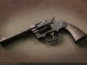colt revolver 3d model
