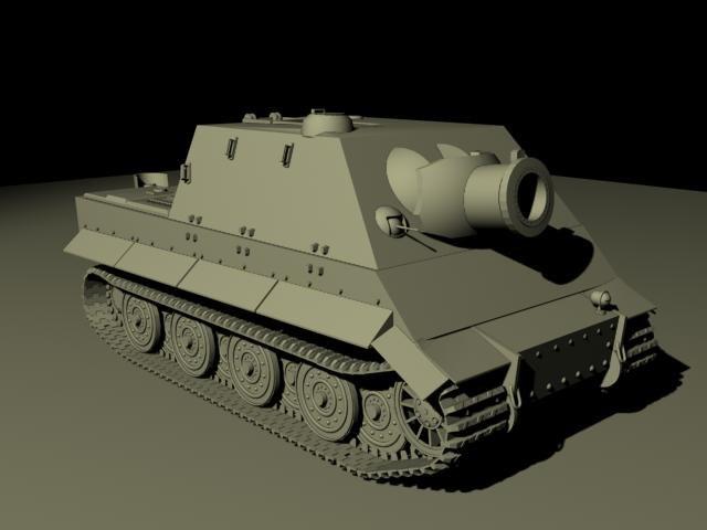 3d german tiger sturmtiger model