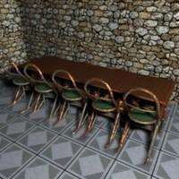 cinema4d bar tables stool
