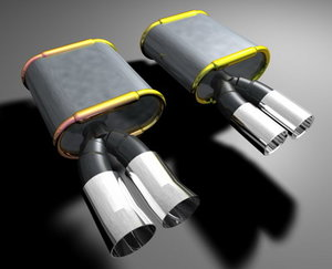 car exhaust c4d