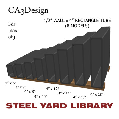 maya 1 wall rectangle tube
