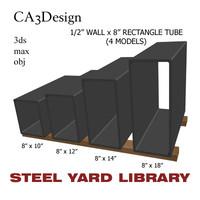 3dsmax 1 wall tube steel