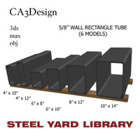 5 wall tube steel 3d max