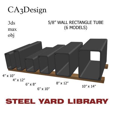 5 wall tube steel 3d max