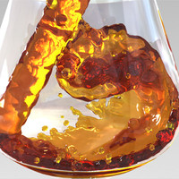liquid filled glass max