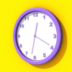 clock 3d lwo