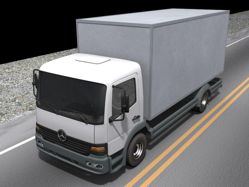 mercedes truck 3d max