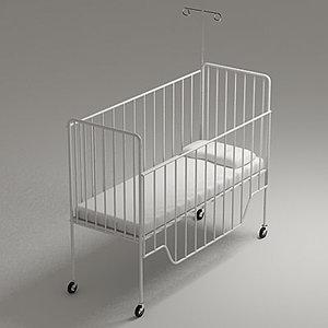 3dsmax paediatrics bed