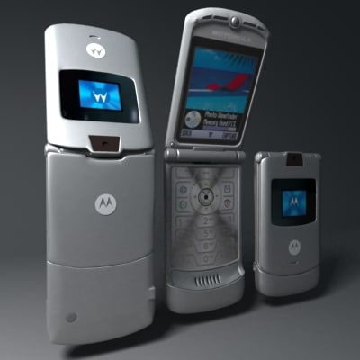 3ds max motorola v3 cellular phone