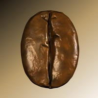 coffe seed 3d model