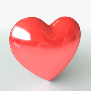 valentines heart 3d model