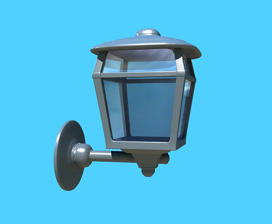 wall lamp outdoor 3d 3ds