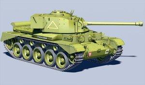 british comet tank 3d model
