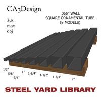 3d wall square tube model