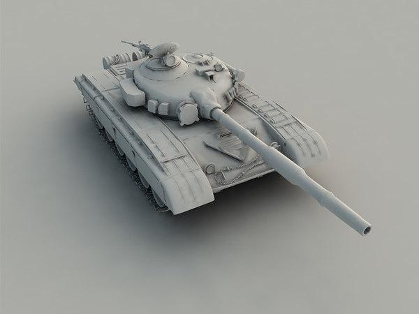 3d ma t-72 tank