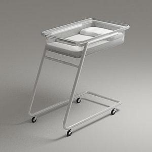 paediatrics bed 3d 3ds
