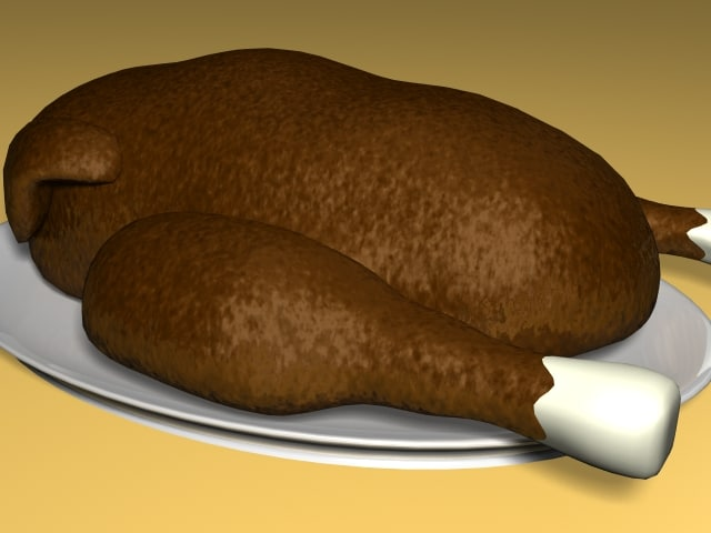free cooked turkey 3d model