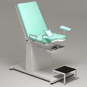 gynecology exam chair 3d model
