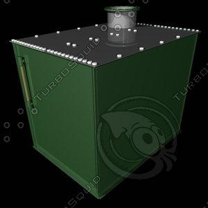 bulk oil tank turbines 3d model