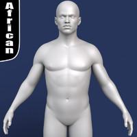 3d model polygonal african male body
