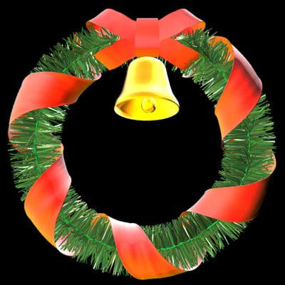 christmas decoration wreath 3d ma