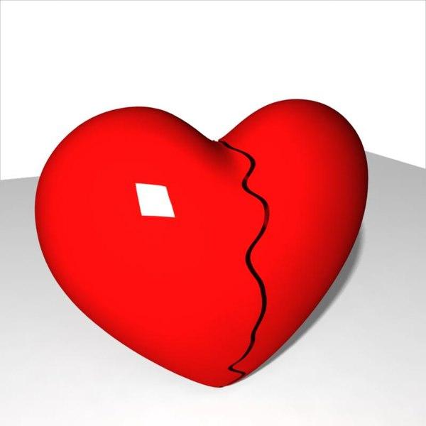 broken heart 3d model