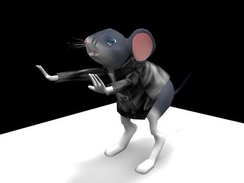 3d model of mouse cartoon