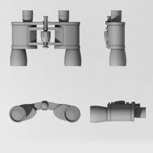monocular binocular 3d model