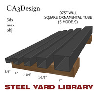 3d wall square tube steel