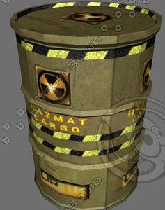 hazmat cargo 3d model