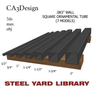 maya wall square tube steel