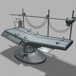 sci-fi medical bed 3d max