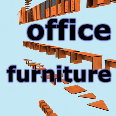 furniture office 3ds