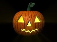 cinema4d halloween pumpkin