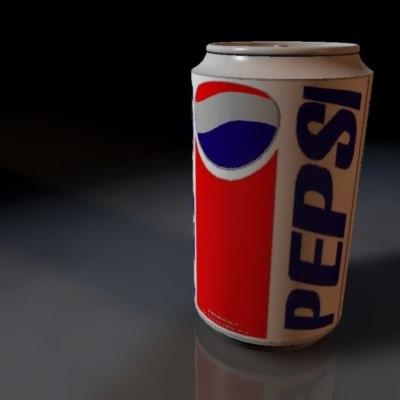 3d pepsi soda