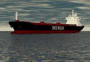 3ds max bulkcarrier cargohip