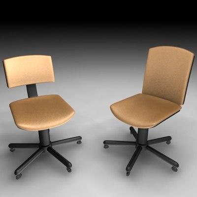 cinema4d office chair set
