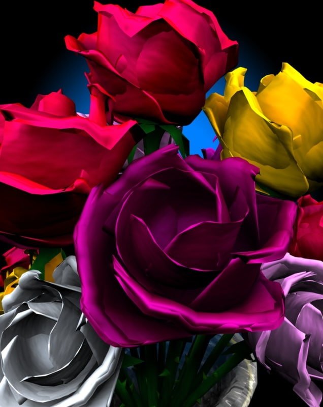 cinema4d rose flower