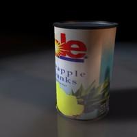 dole pineapple 3d 3ds