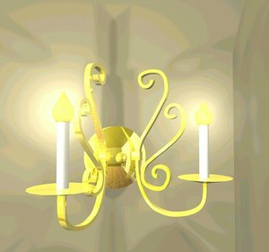 3d sconce candelabra model