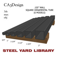 wall square tube steel 3ds
