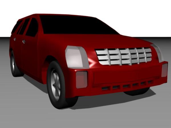 cadillac srx utility vehicle 3d model