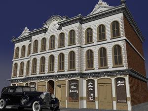 3d victorian storefront