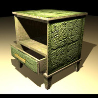 night stand mayans design 3d model