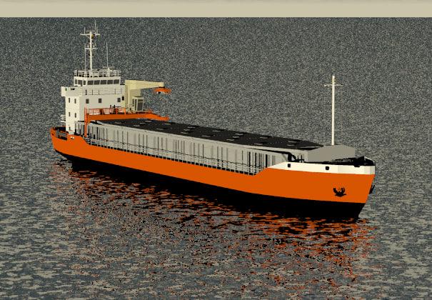 general cargo vessel 3ds
