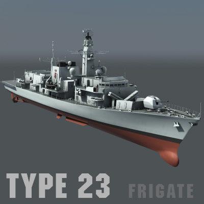 type 23 - ships 3d model