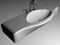 3d sink bathroom ceramic