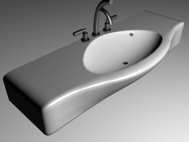 3d sink bathroom ceramic